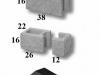 thumbs 4 Presuotų akmenukų blokeliai
