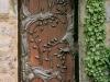 thumbs 4 Medinės durys su metalo ornamentais